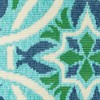 Marlowe Floral Lattice Patio Rug Blue/Green - image 2 of 3