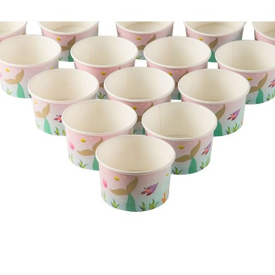 Childrens Party Avocado 8-Ounce Taco Party Happy Cups Ice Cream Sundae Cups Pack of 50 Paper Cups for Birthday Party Supplies