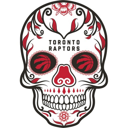 NBA Toronto Raptors Large Outdoor Skull Decal - image 1 of 1