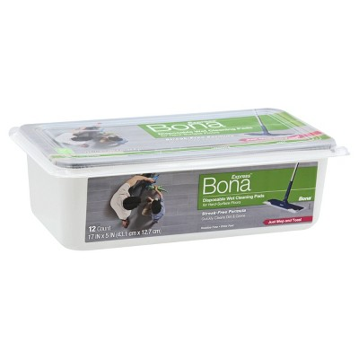 Bona Multi Surface Floor Wet Cleaning Pads - 12ct