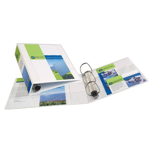 "Avery® 3"" 3 Ring Binder with Hard Cover White - image 1 of 2"