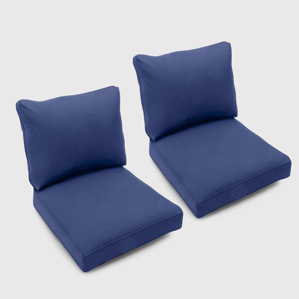 Bar Harbor 2pk Club Chair Cushions Navy (Blue) - Threshold