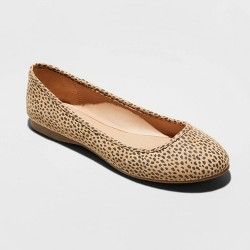 Women's Everly Faux Leather Round Toe Ballet Flats - Universal Thread™