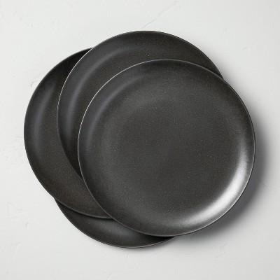 4pk Bamboo Melamine Salad Plate Set Solid Dark Gray - Hearth & Hand™ with Magnolia
