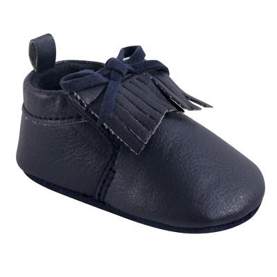 Hudson Baby Infant Unisex Moccasin Shoes, Navy Moccasin