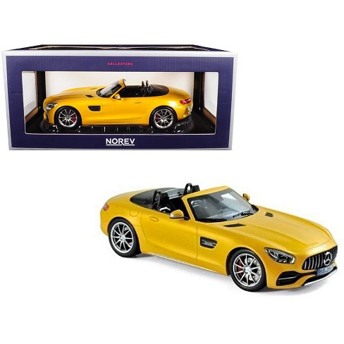 2017 Mercedes AMG GT C Roadster Yellow Metallic 1/18 Diecast Model Car by Norev - image 1 of 2