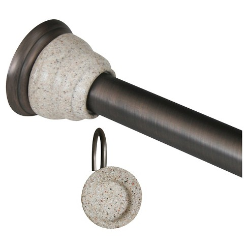 Tension Rod and Hook Set - Rubbed Bronze - image 1 of 1