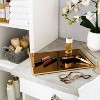 Large Classic Design Bathroom Tray Gold - Home Details - image 4 of 4