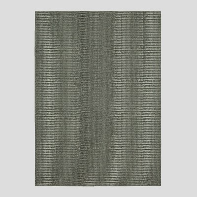 5'X7' Indoor/Outdoor Solid Tufted Area Rug Gray - Made By Design™