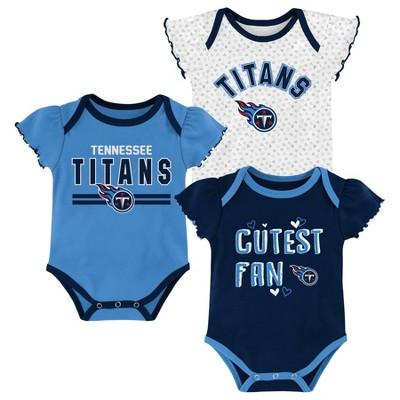 NFL Tennessee Titans Baby Girls' Bodysuit Set 3pk - 12M