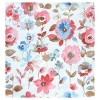 """36""""x27"""" Dora Floral Print Microfiber 3pc Kitchen Curtain Valance and Tier Set Coral - No. 918 - image 2 of 2"""