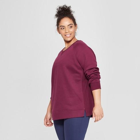 54ffa01bc7755 Women s Plus Size Authentic Fleece Sweatshirt - C9 Champion® Dark ...