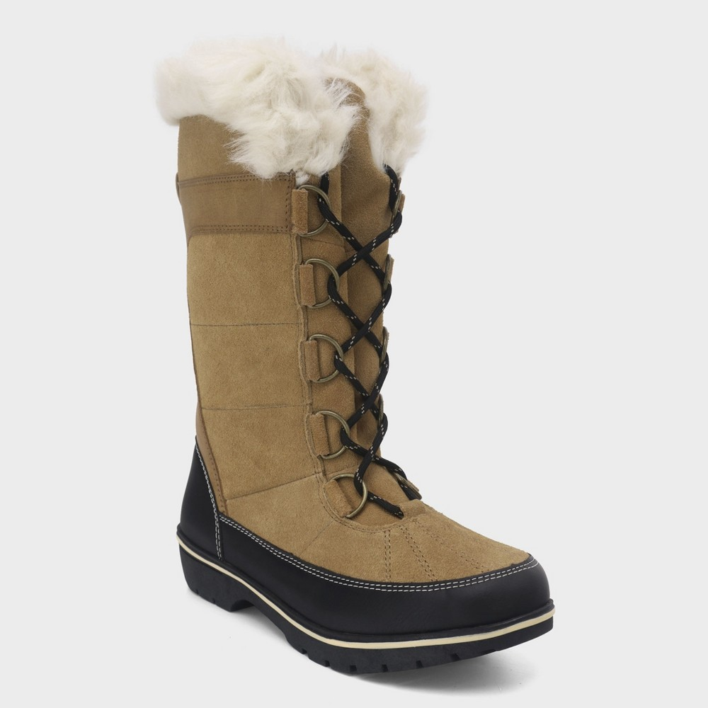 Women's Ruthie Wide Width Tall Functional Winter Boots - C9 Champion Tan 11W, Size: 11 Wide