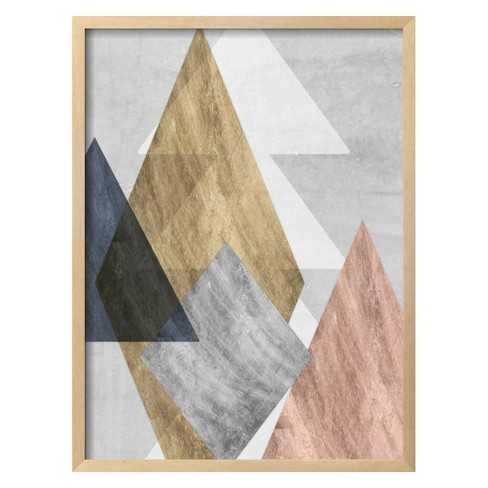 Peaks I by Jennifer Goldberger Framed Art Print - Art.com - image 1 of 3
