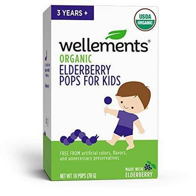 Wellements Organic Elderberry Pops - 10ct