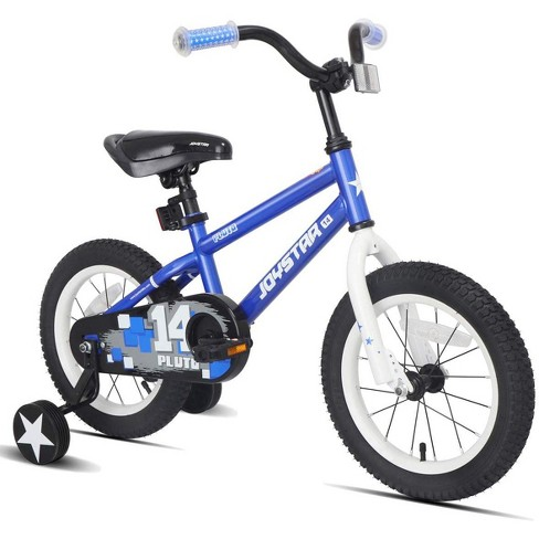 JOYSTAR Pluto Series 18-Inch Pre-Assembled Ride-On Kids Bike with Coaster Braking and Kickstand, Blue - image 1 of 4