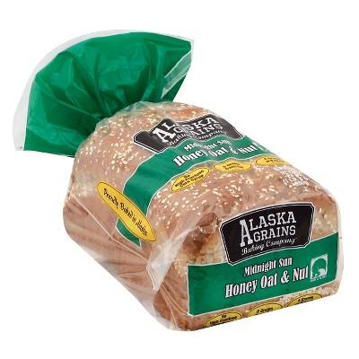 Alaska Grains Midnight Sun Honey Oat & Nut Bread - 24oz