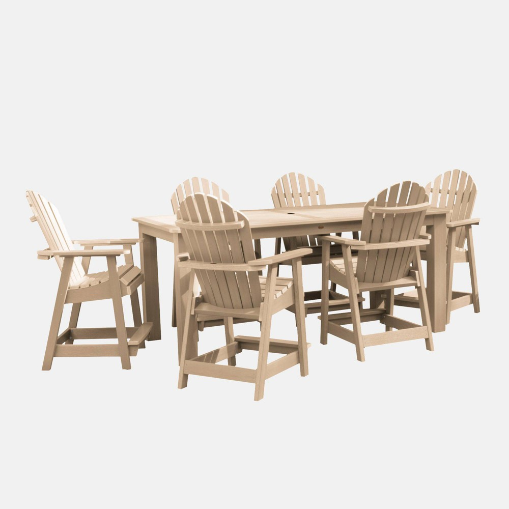 "Image of ""7pc Hamilton 84"""" Rectangular Counter Height Patio Dining Set Tuscan Taupe - highwood, Tuscan Brown"""