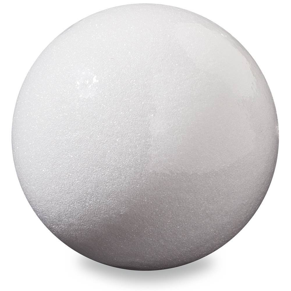 "Image of ""FloraCraft 7.8"""" Foam Ball - White"""