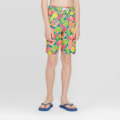 Boys' Fruit Swim Trunks Turquoise - Cat & Jack™ - image 1 of 3