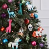 4ct Glitter Sequin Unicorns Christmas Ornament Set Blue Red Green and Pink - Wondershop™ - image 2 of 2