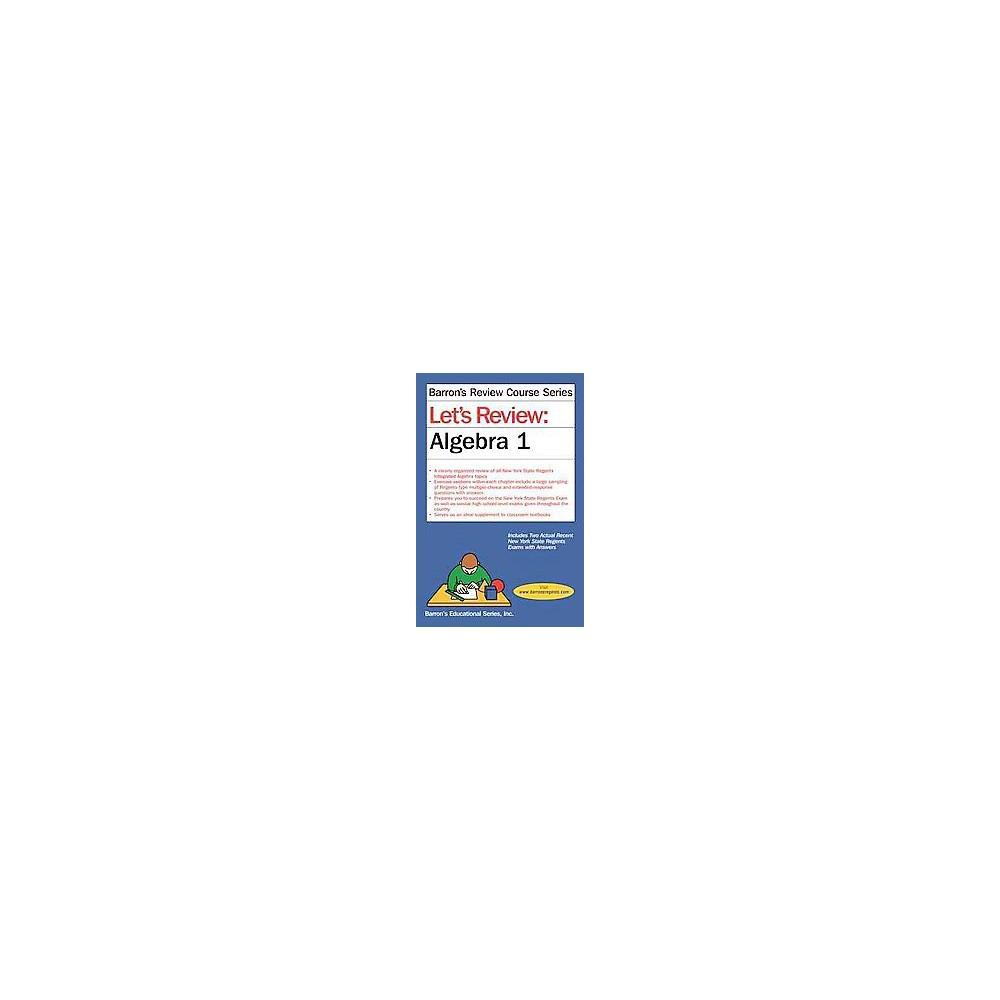 Let's Review Algebra I (Paperback) (Gary M. Rubinstein)