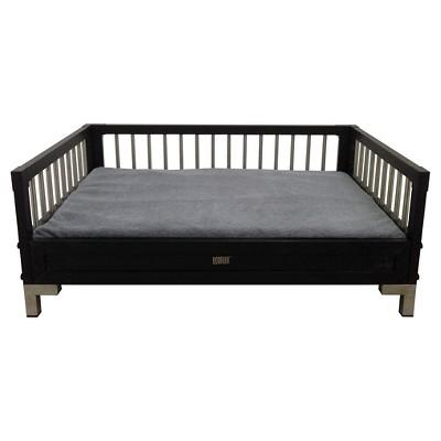 ECOFLEX Raised Dog Bed with Memory Foam Cushion - Espresso- Large
