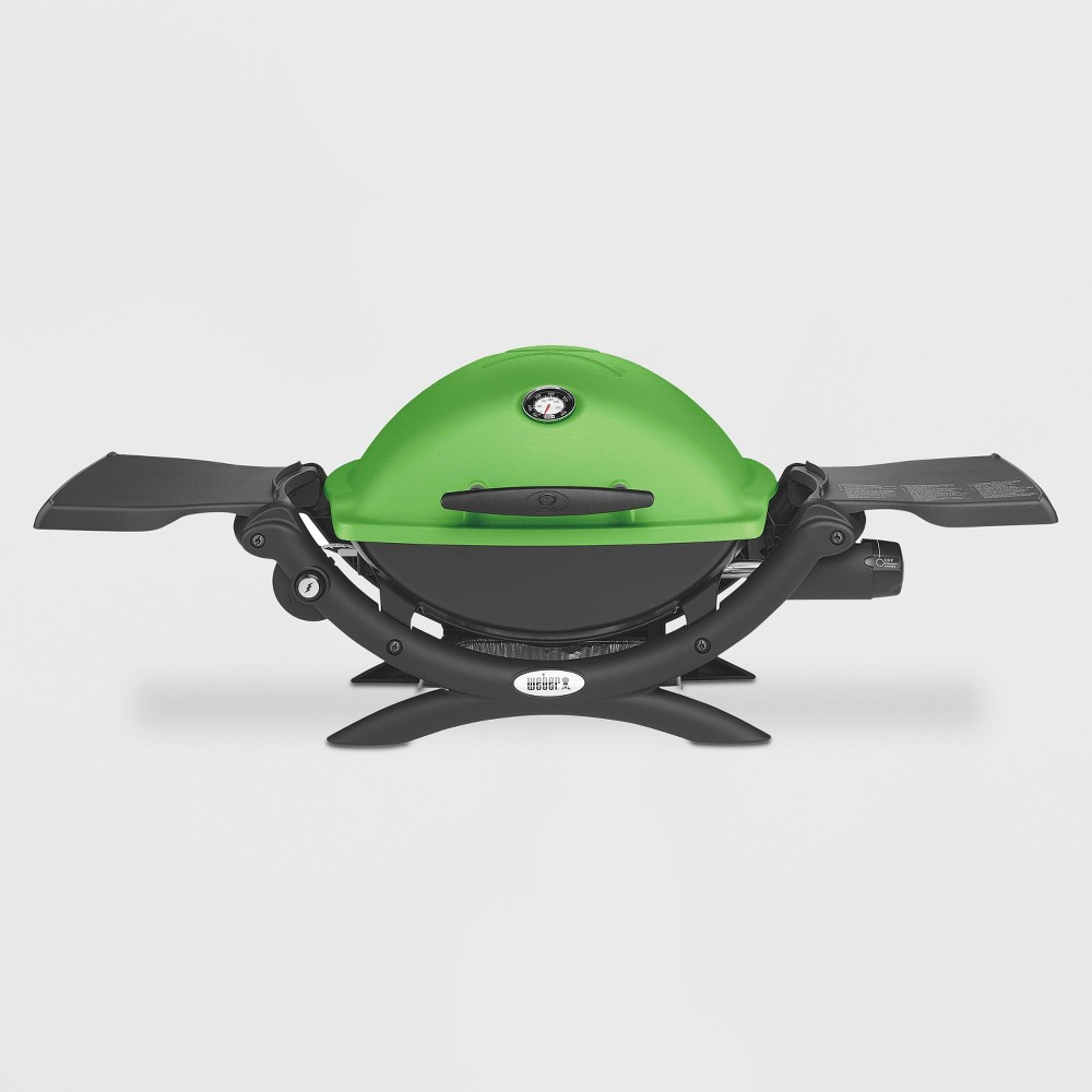 Weber Q 1200 LP Gas Grill- Green 16754019