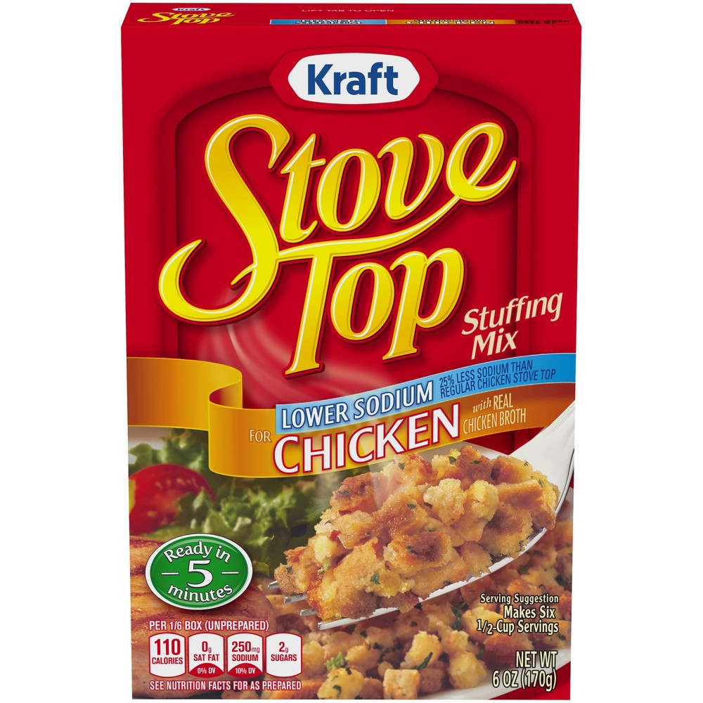 Stove Top Lower Sodium Stuffing Mix for Chicken 6 oz