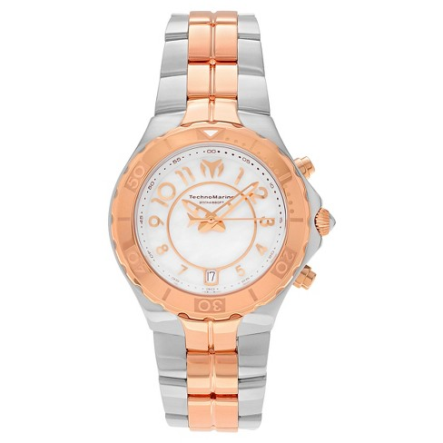 Men's Technomarine TM-715002 Sea Pearl Quartz White and Rose Gold Dial Link Watch - Rose Gold - image 1 of 3