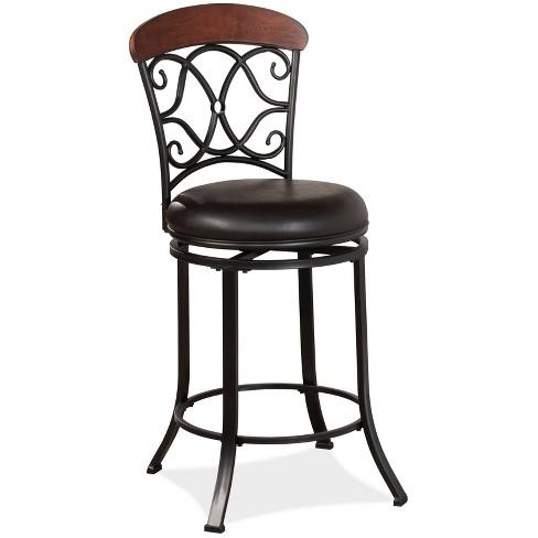 Trevelian Swivel Counter Height Barstool Coffee Brown - Hillsdale Furniture - image 1 of 4