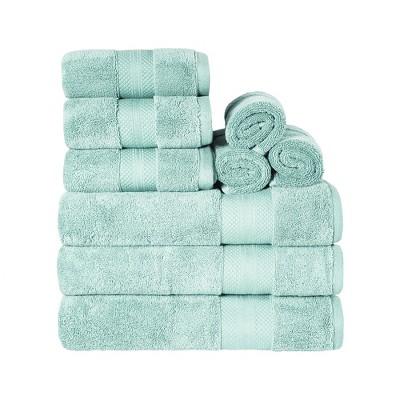 Solid Cotton Plush Assorted 9-Piece Towel Set - Blue Nile Mills