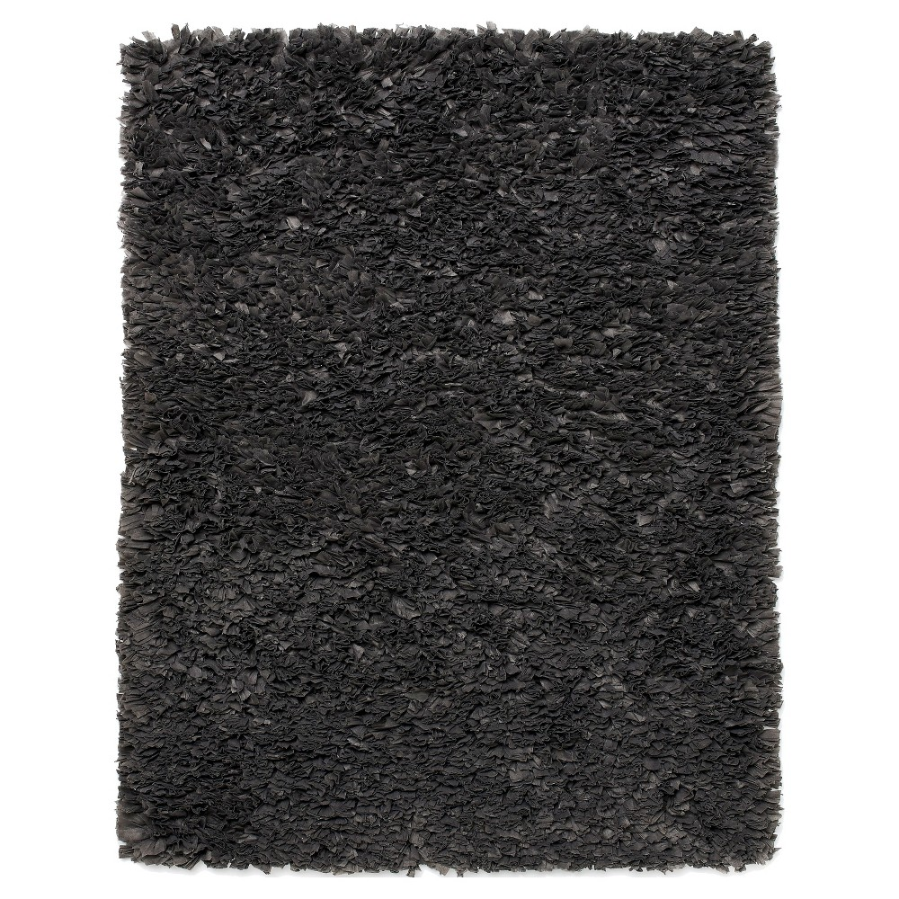Image of 3'X5' Solid Accent Rug Gray - Anji Mountain