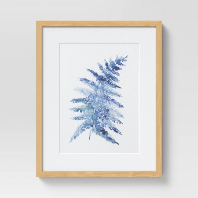 "(Set of 2)16"" x 20"" Fern II Framed Under Glass with Mat - Threshold™"