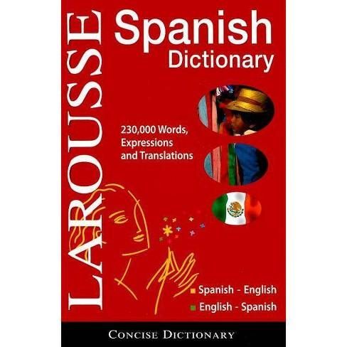 Larousse Concise Dictionary: Spanish-English/English-Spanish - 3 Edition (Hardcover) - image 1 of 1