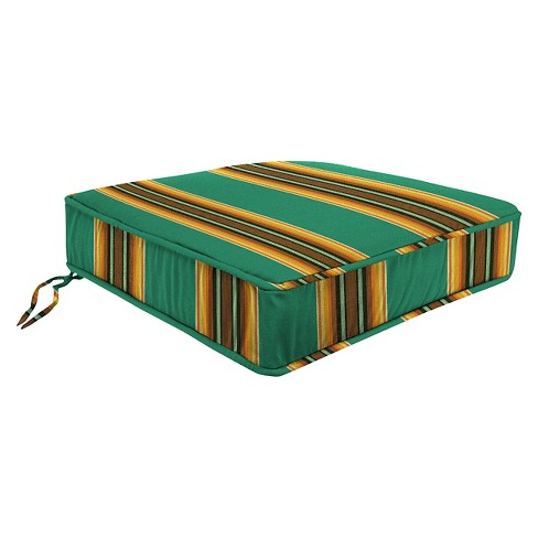 Boxed Edge Seat Cushion - Fiji Green - Jordan - image 1 of 1