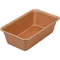 "Wilton 9.3""x5.3"" Ceramic-Coated Non-Stick Portions Loaf Pan"