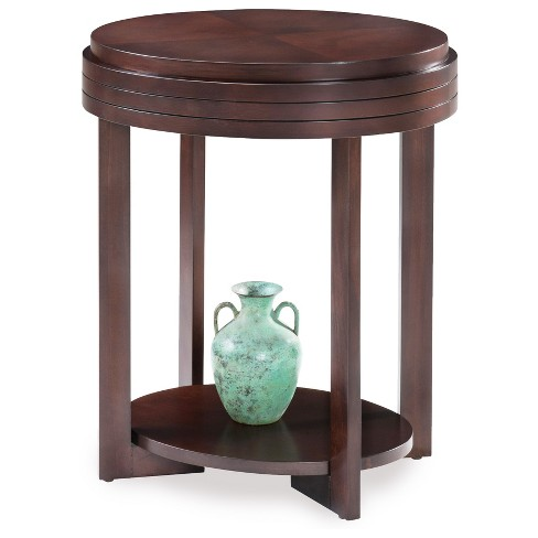 Oval End Table - Chocolate Cherry - Leick Furniture - image 1 of 6