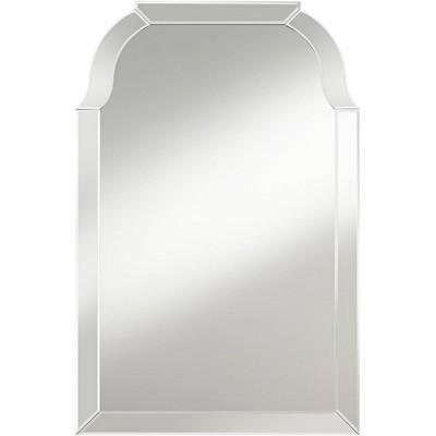 """Possini Euro Design Possini Euro Mayden 23 1/2"""" x 36"""" Arch Top Wall Mirror"""