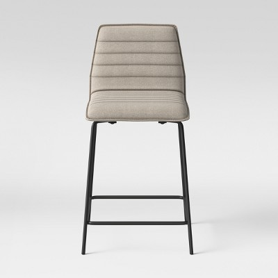 24  Salk Modern Quilted Counter Stool - Linen - Project 62™