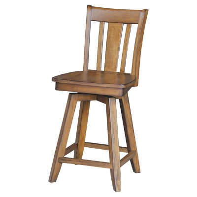 """24"""" San Remo Swivel Counter Height Barstool - International Concepts"""