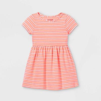 Toddler Girls' Short Sleeve Dress - Cat & Jack™ Peach 4T