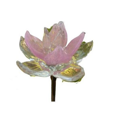 Glass Solar Flower Stake Pink - Ultimate Innovations