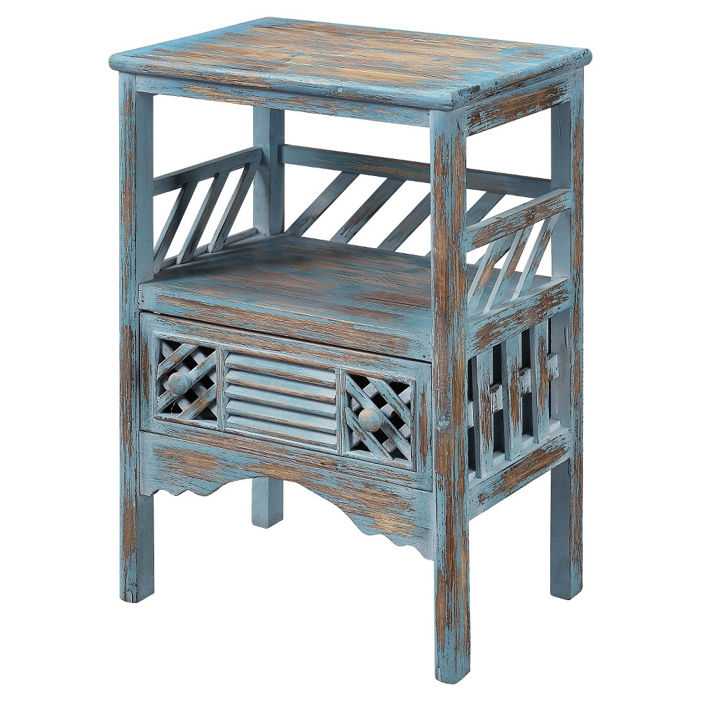 Bali Accent Table - Blue - Christopher Knight Home