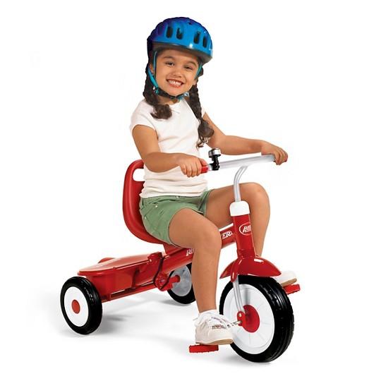 Radio Flyer Steer & Stroll Trike - Red, Kids Unisex image number null