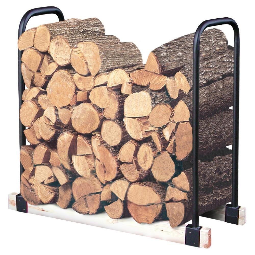 Landmann Log Storage Tubular Steel Adjustable Log Rack 2-16 Feet, Black