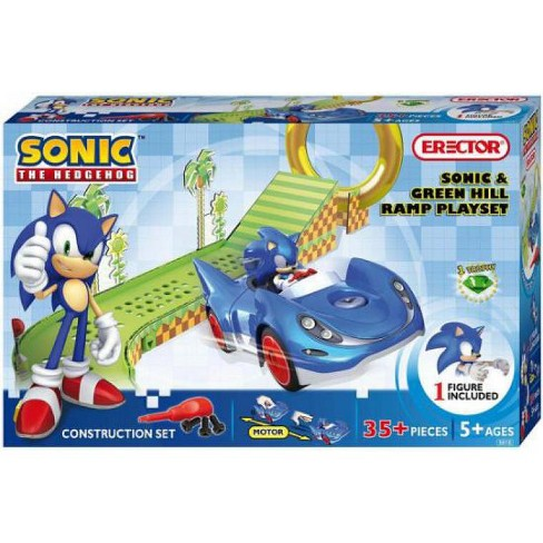 Sonic The Hedgehog Sonic And Green Hill Ramp Construction Set 5610 Target