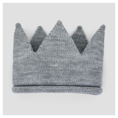 Baby Knit Crown - Cloud Island™ - Gray 0-6M