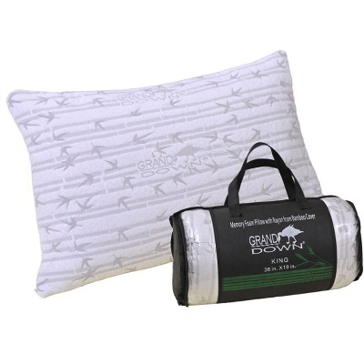 Traditional Memory Foam Pillow with Removable Bamboo Cover - Blue Nile Mills