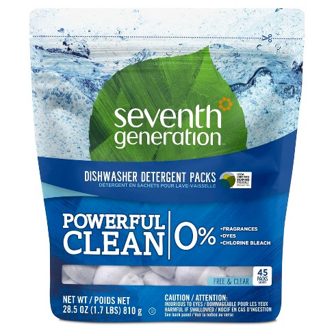 Seventh Generation™ Free & Clear Natural Dishwasher Detergent Packs - 45ct - image 1 of 1